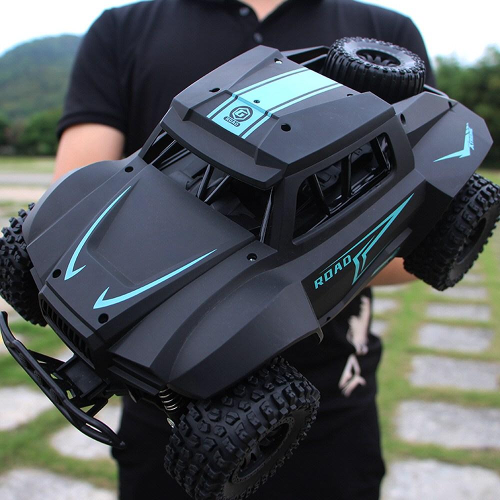 오프로드 드리프트 레이싱 고속 등반 대형 RC자동차, 블랙(배터리1개)