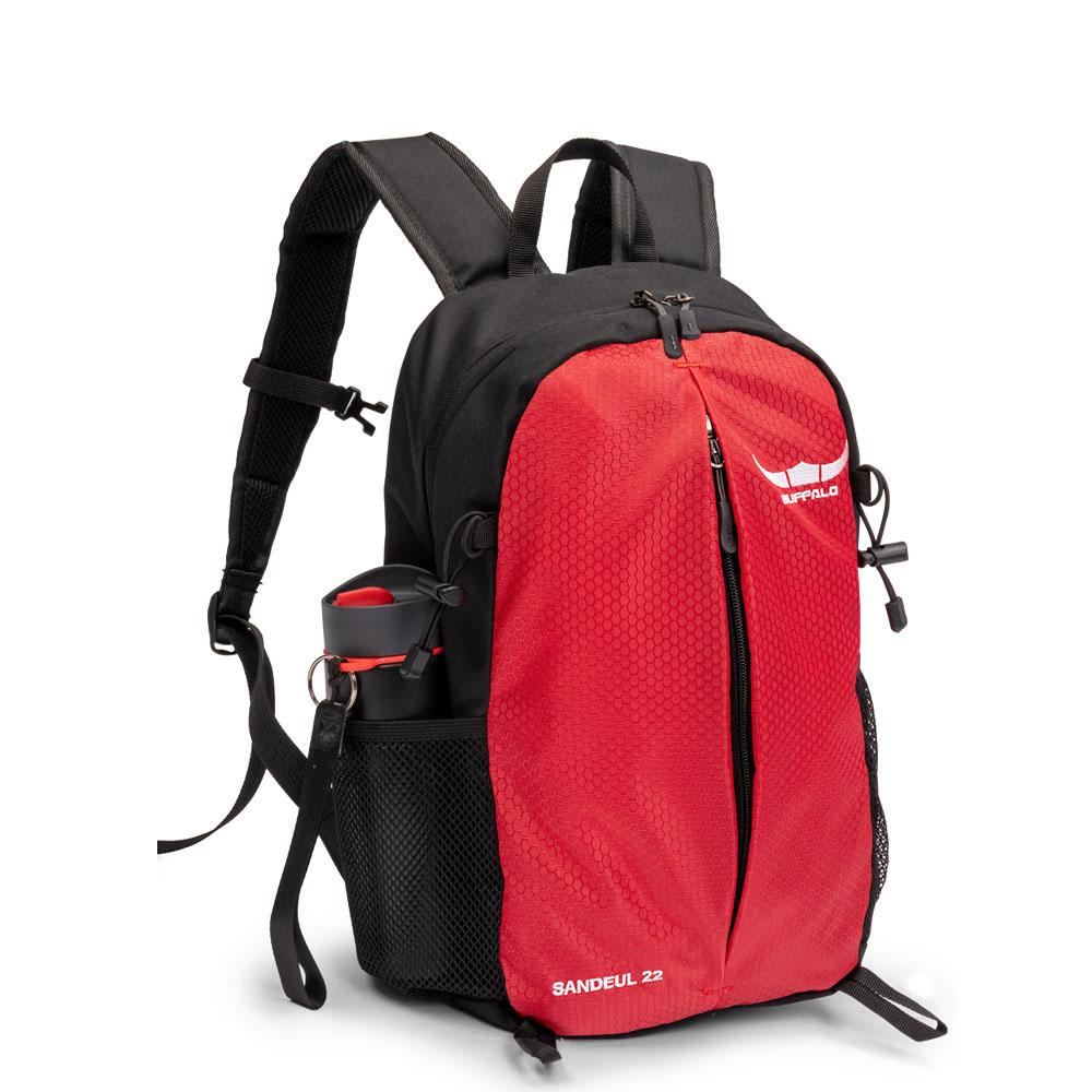 버팔로 산들배낭-22L 소형 등산 가방, 레드