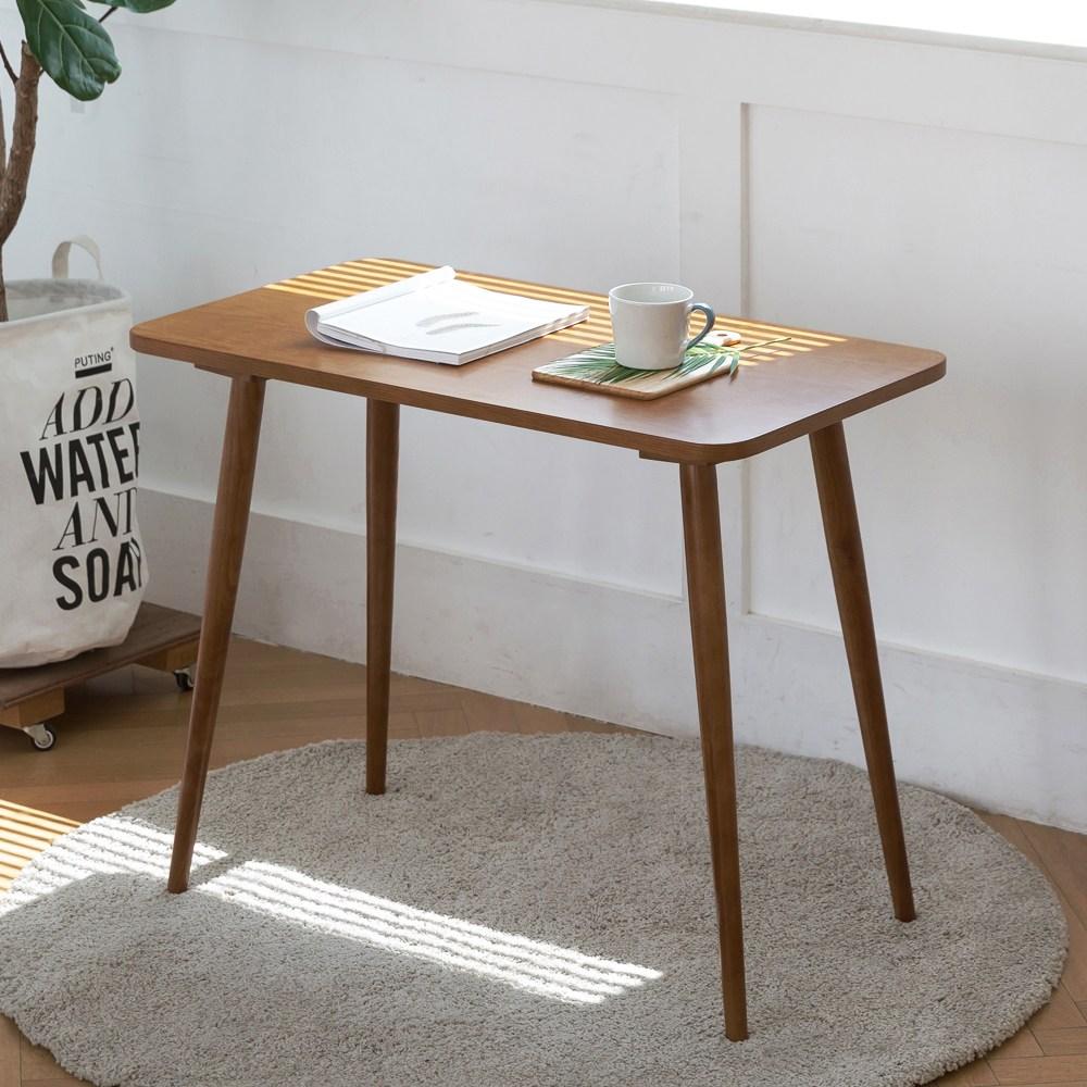 룸스퀘어 원목 카페테이블 커피테이블 티테이블 모음, 05_직사각카페테이블900(브라운)