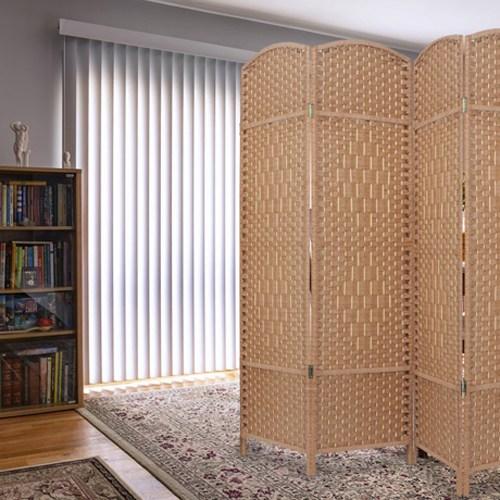 에코팩토리 인테리어 파티션 핸드메이드 라탄 칸막이 공간분리, [B-중형]120x150cm라탄올:브라운