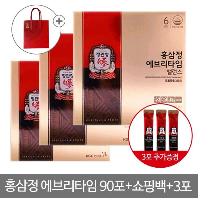 정관장 홍삼정 에브리타임 밸런스 90포(3박스), 90포, 10ml