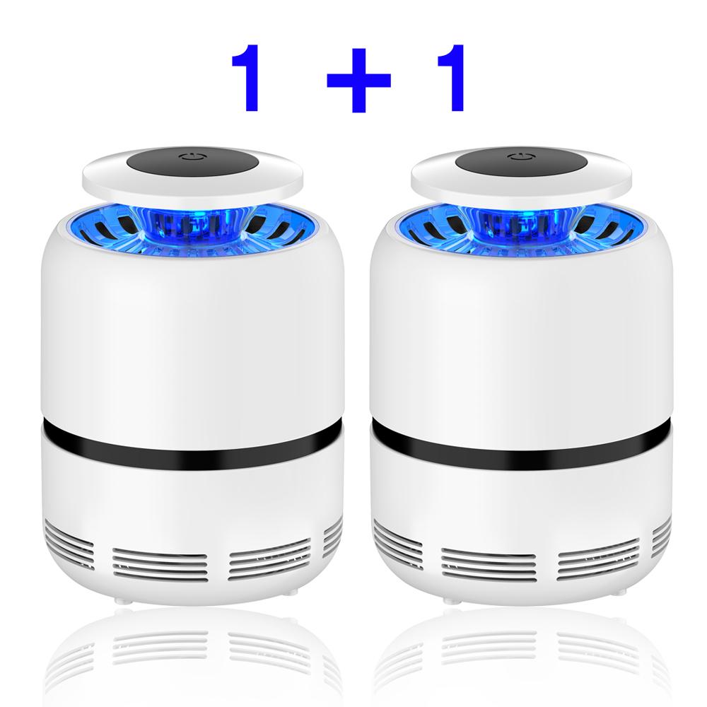 나우킹 1+1 2개구성 UV LED 모기 퇴치 해충 벌레 퇴치기 포충기, 본체1+1 2개 (POP 1805741295)