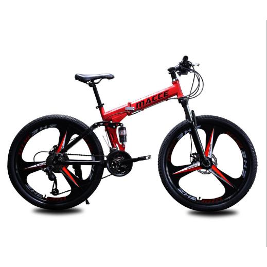 26 인치 접이식 자전거, 검정, 21