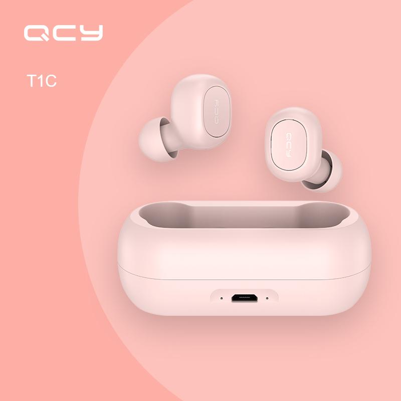 2020최신 큐씨와이 QCY T1C 버전블루투스 무선 이어폰, 핑크