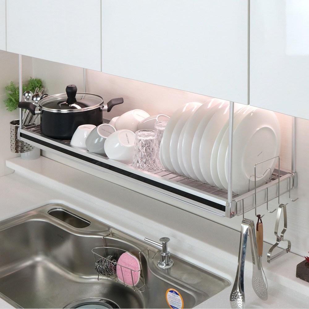 긴 와이드 싱크대 선반 씽크대 싱크 씽크 주방 부착식 설거지 식기건조대 800 900 1200