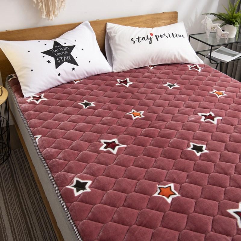 토퍼 템퍼 매트리스 침구 기타 겨울 쿠션 접이식 침대 기모 융털 매트, AN_1.0 x 2.0m