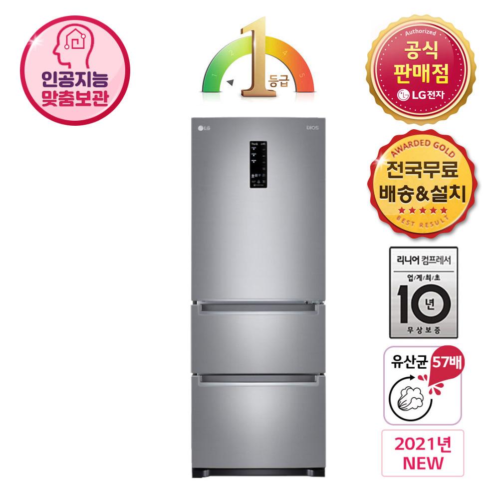 LG전자 K335S14E 김치냉장고 스탠드형, K335S14E.AKOR