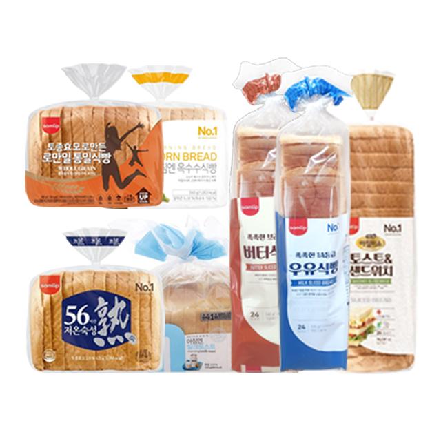 삼립 천연효모로 만든 로만밀 통밀 식빵 외 다이어트 샌드위치 토스트 코스트코 식빵 7종, 촉촉한1A등급우유식빵 2개