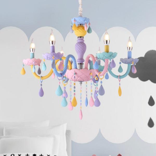 마카롱 샹들리에 크리스탈 LED 조명 인테리어 아이방, MT468 조명 펜던트형 5등