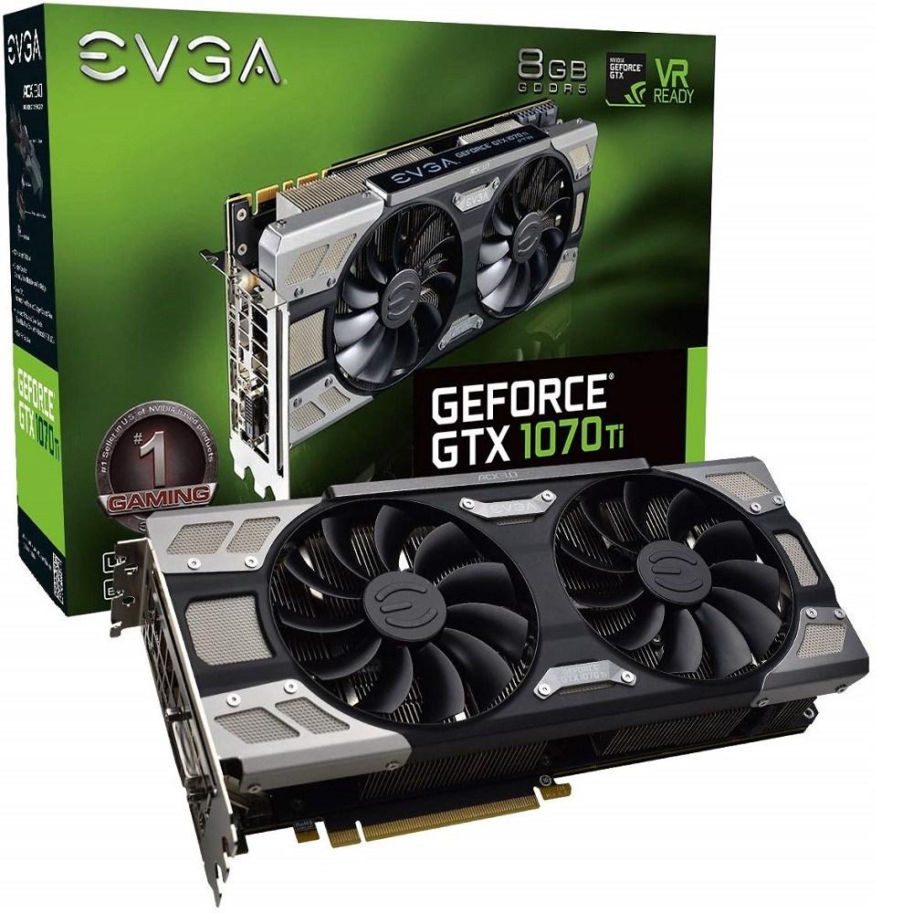 EVGA GeForce GTX 1070 Ti FTW ULTRA SILENT GAMING 8GB GDDR5 ACX 3.0 (08G-P4-6678-KR) 그래픽카드, 08G-P4-6678-KR