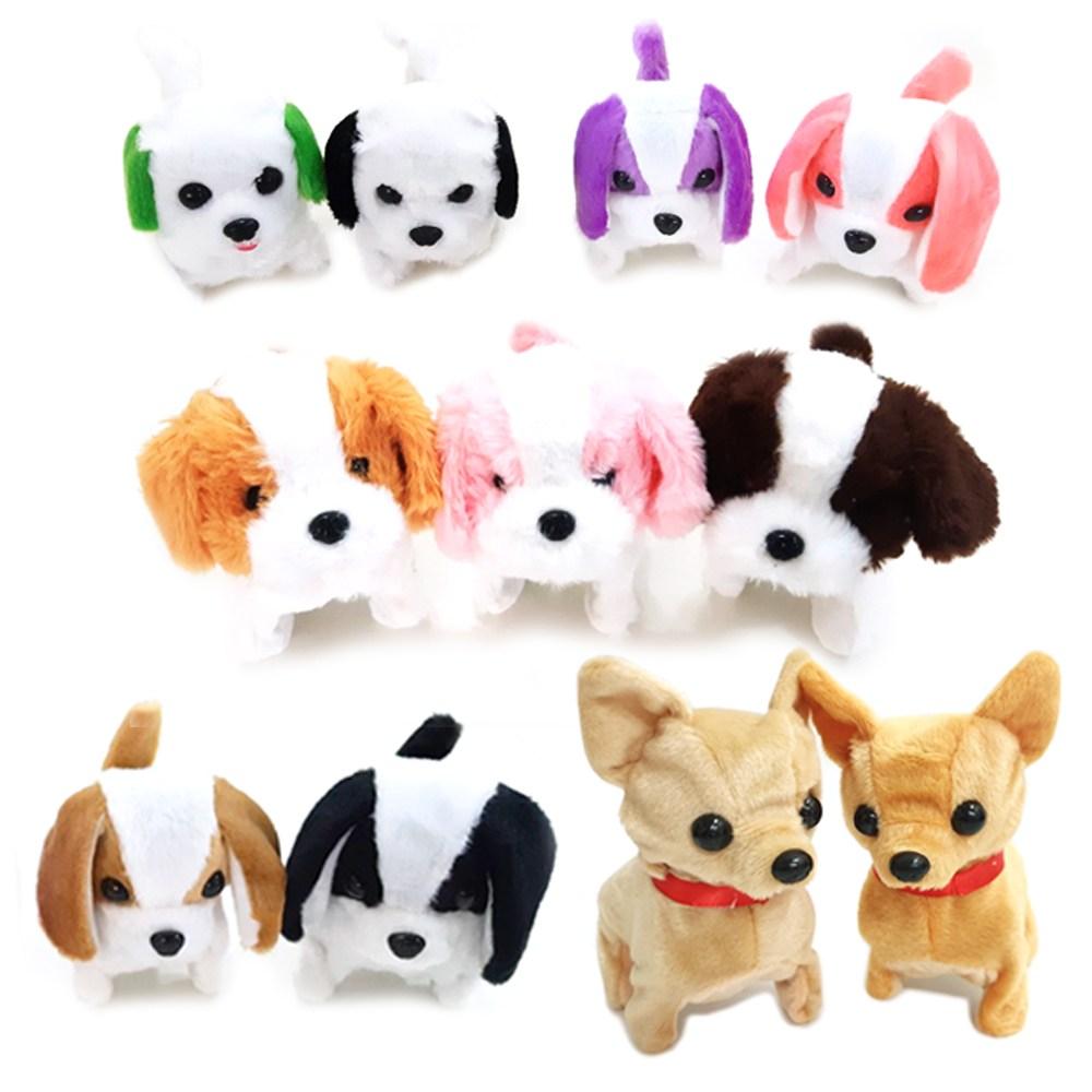 움직이는 강아지 인형모음 귀여운 작동 장난감 휴게소, 01.귀여운강아지1+1