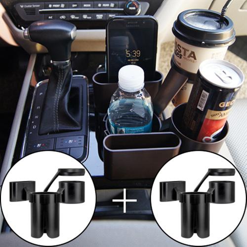 청호유통 스마트 차량용 컵홀더 7in1(블랙)