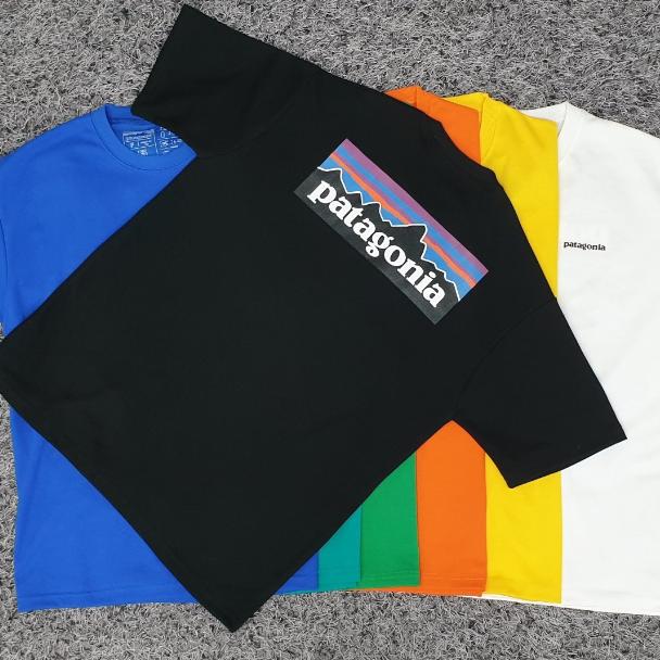 파타고니아 (주문다음날출고)프린팅 나염 반팔 티셔츠, 블랙