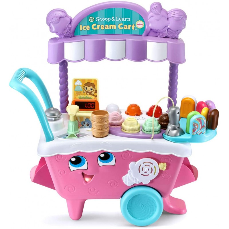 LeapFrog Scoop and Learning 아이스크림 카트 디럭스 (Frustation Free Packaging), 단일옵션