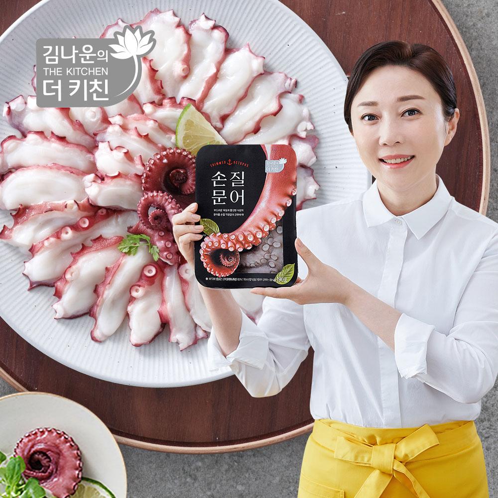 김나운더키친 김나운 저온숙성 손질문어 3팩 총570g (1팩 190g), 단품