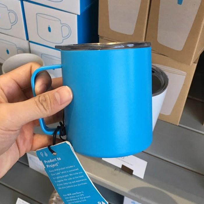 [이라운드몰]블루보틀 MiiR 2중구조 내열 스텐레스 보온보냉 트래블 머그컵 350ml, 단품, 옵션선택