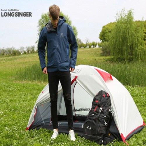 JR1 초경량 야외 캠핑 텐트 폭우 예방 1인용 등산 트레킹 비박텐트 PU3000mm, 하늘색
