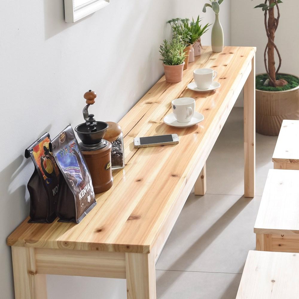 다니엘우드 원목스탠딩테이블 키높이 거실테이블 바테이블, 08)바테이블1000x450x920(삼나무)_바니쉬 (POP 345069928)