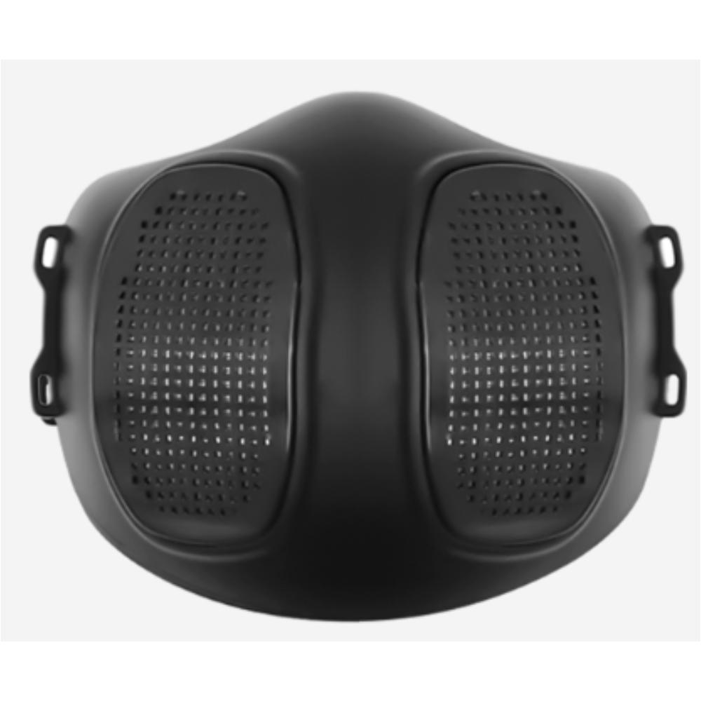 리오투마스크 완전밀착식 숨쉬기편한 마스크 실리콘필터교체형 블랙+필터100매