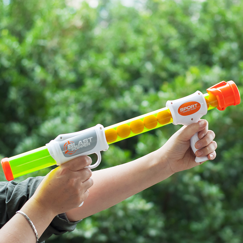 너프건 장난감 세트 에어건 장난감총 슈팅게임총, 1.공 24개