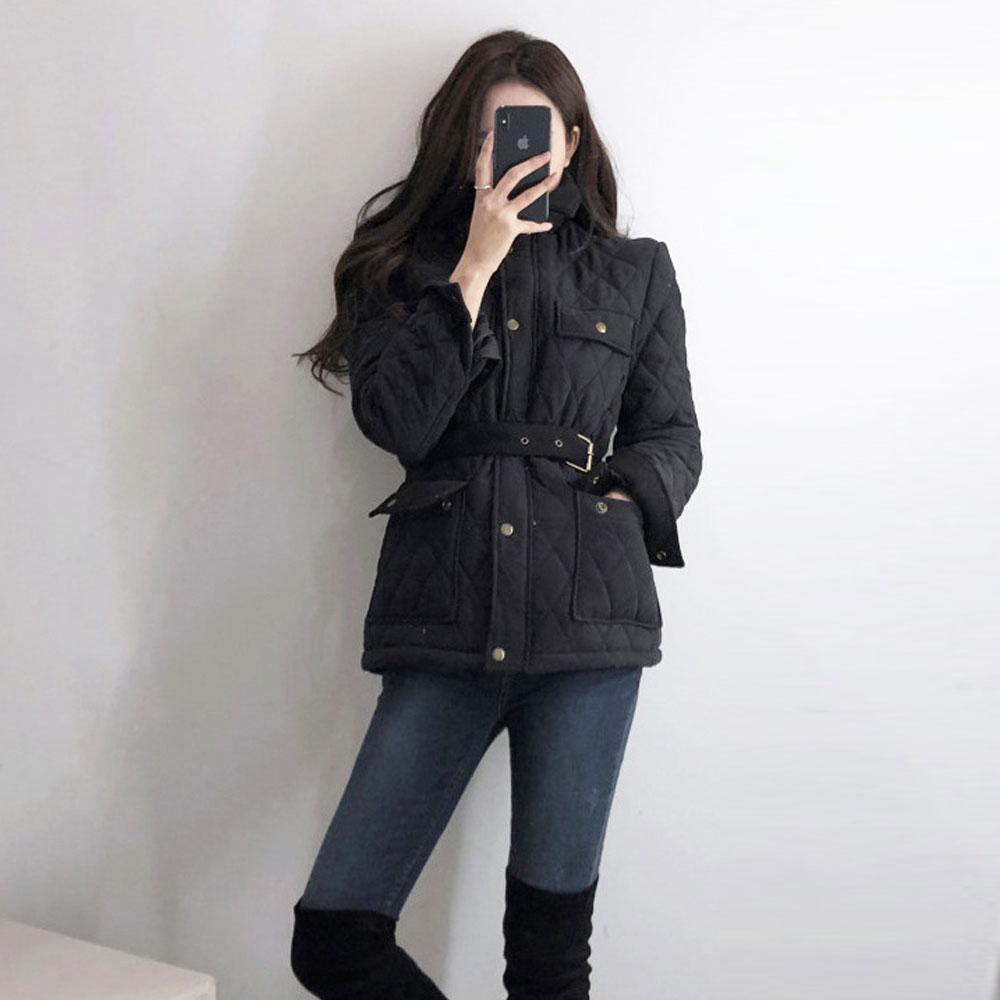 [제러의옷장]루이 누빔 벨트 패딩 BE1105N09
