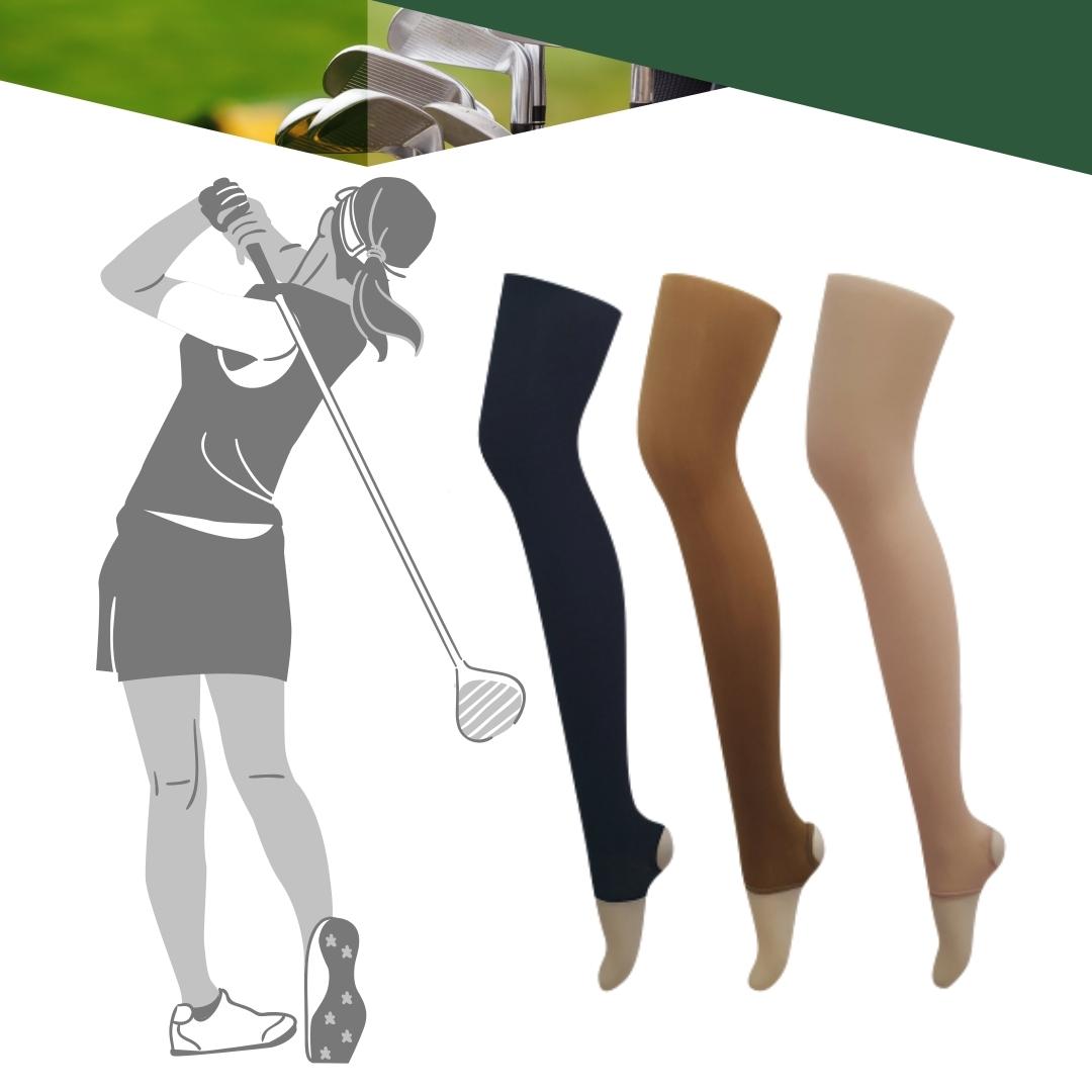 루디뷰스 골프스타킹 압박 사계절용 여성 무광 UV 자외선 차단 고리 스타킹, 블랙FREE(M-L)/사계절용