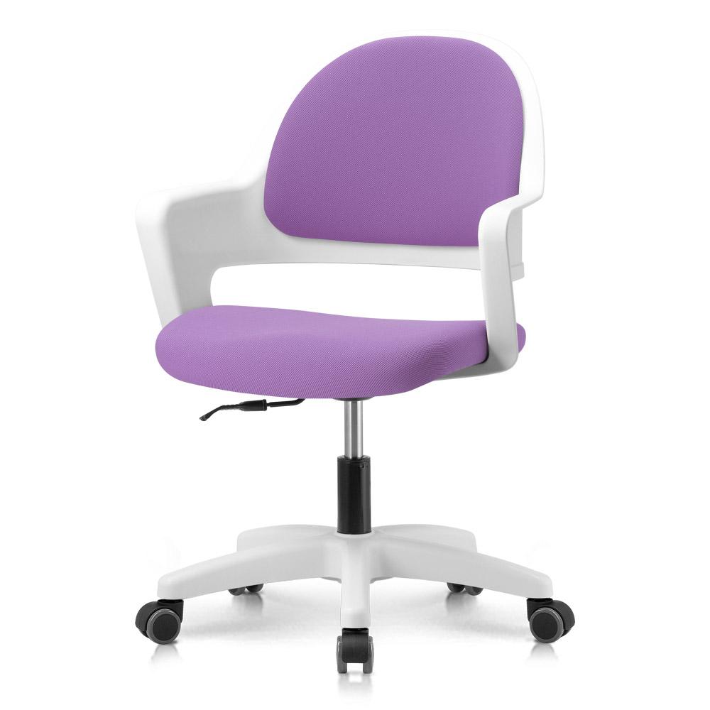 프리메이드 프로그 의자, 화이트바디_바이올렛 패브릭
