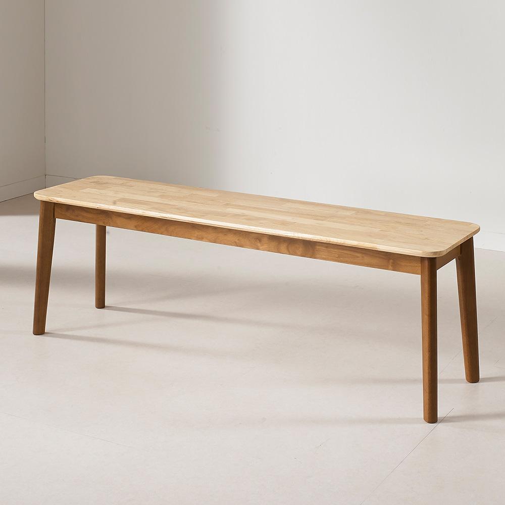 라로퍼니처 아몬드 3인용 원목벤치 의자 식탁벤치 나무벤치 실내벤치, 단품
