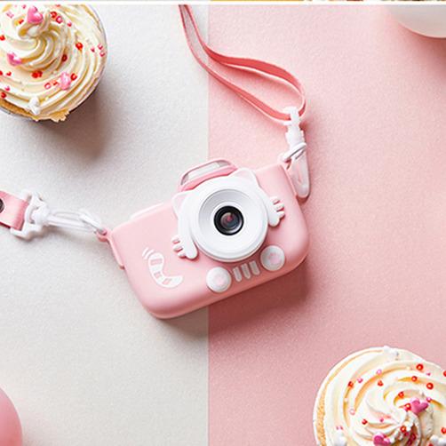해외직구 신규버전 3.0인치 키즈 디지털 카메라 어린이용 WIFI 카메라(32GB 메모리 카드 포함) 디지털카메라, 고양이발 카메라