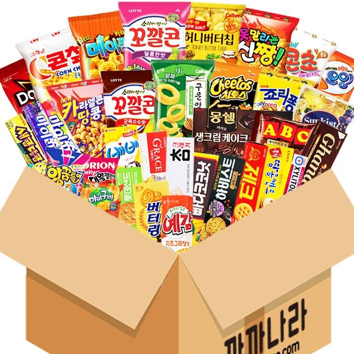 까까나라 과자 간식 랜덤 럭키박스 인기라면 20p 선물세트, 1box, 30000원 럭키박스(기본)