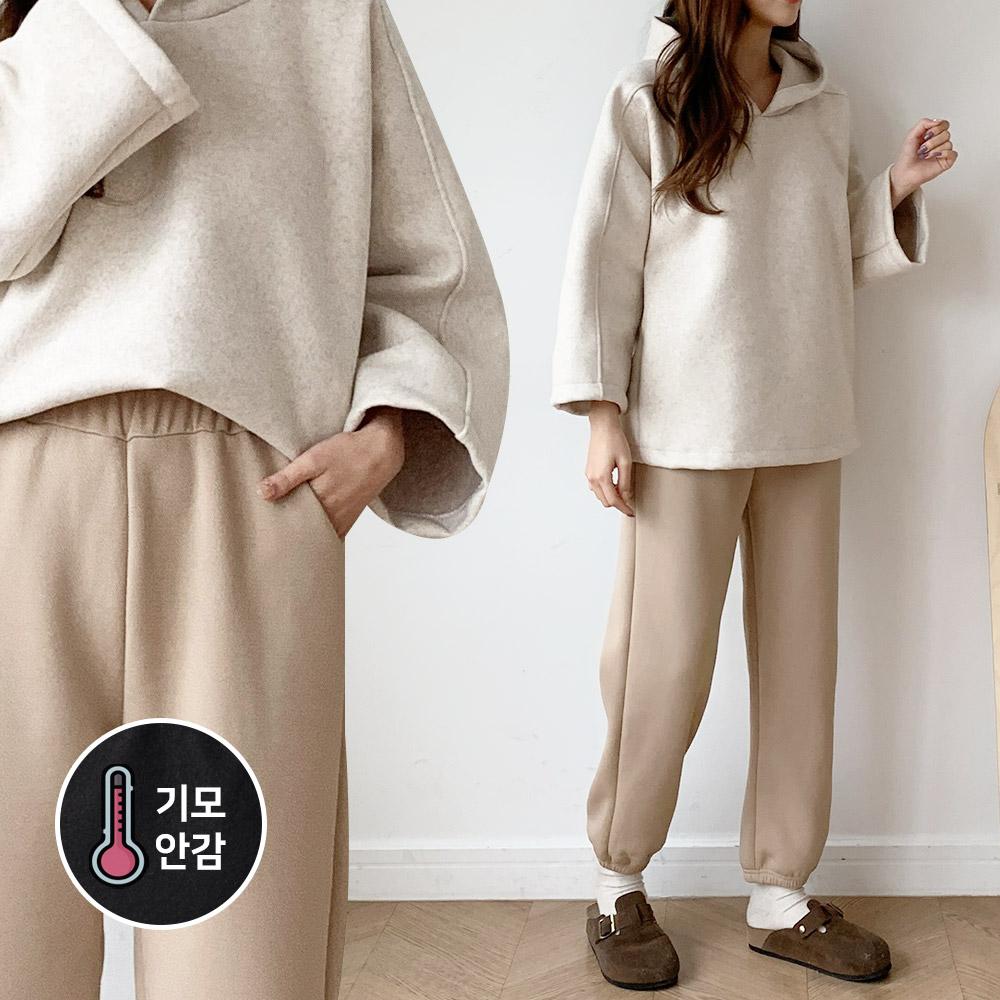 [여성패션] [리엘라]리네스 기모 무지 밴딩 조거팬츠 여성 바지 너무편한 겨울조거팬츠 - 랭킹81위 (7500원)