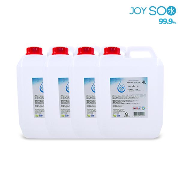 조이수 정제수 증류수 3차 살균 초순수 모음, 초순수3차 4L, 4개
