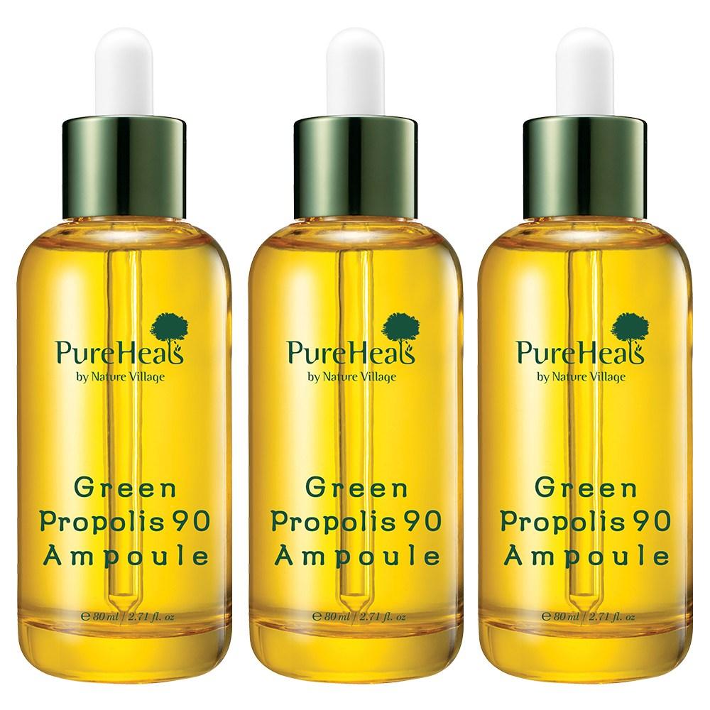 PureHeals 그린 프로폴리스 90 앰플 80ml 고보습, 3개