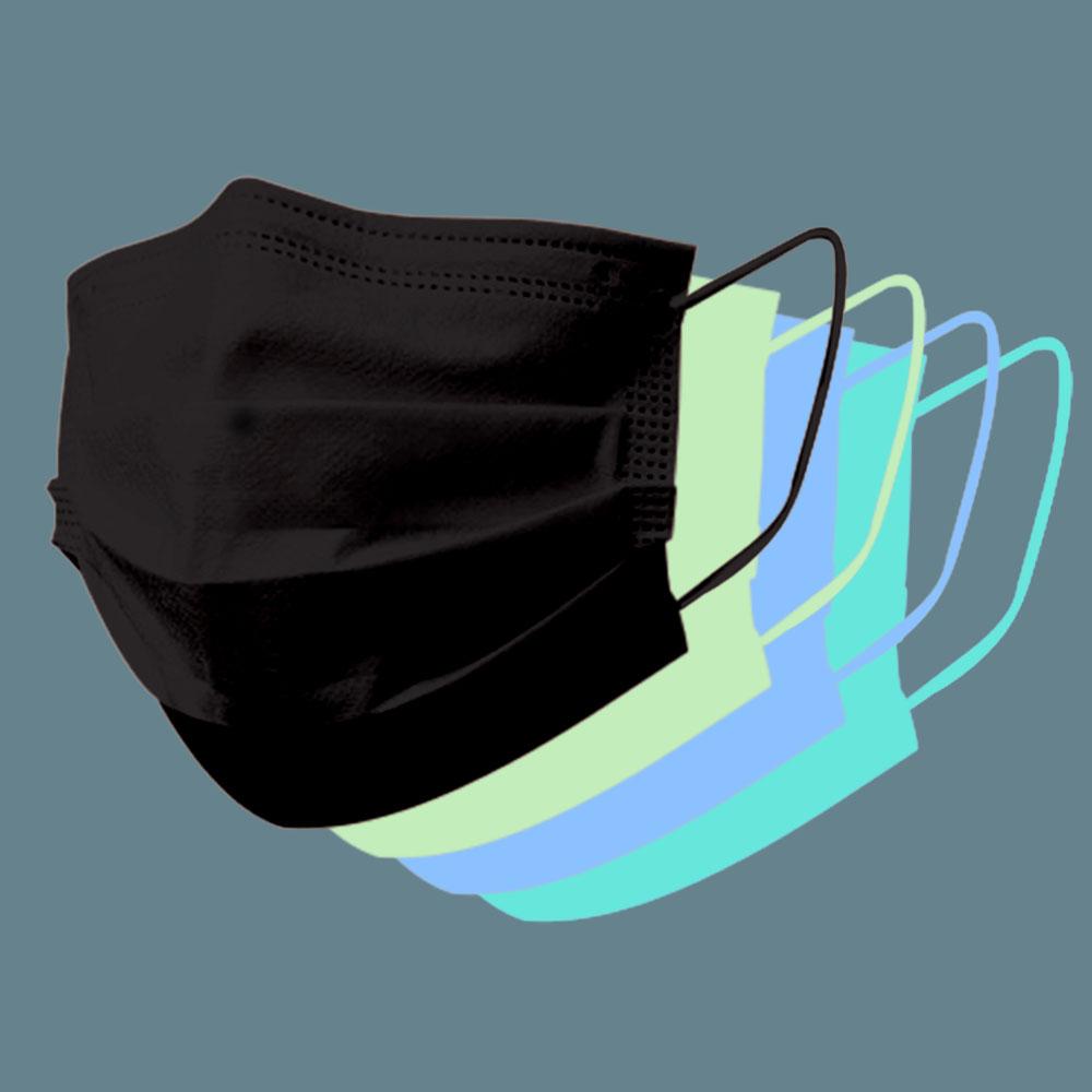 일회용 마스크 50매 4중 필터 덴탈마스크 당일발송, 02.일회용마스크 50매(블랙)