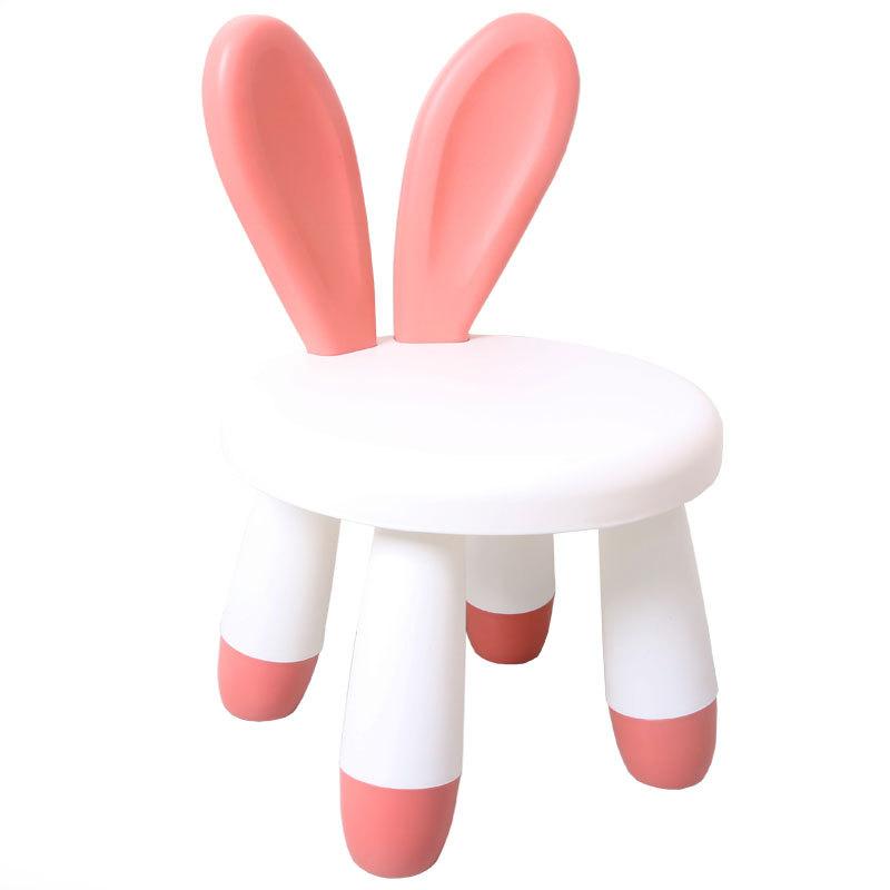 엔라인 유아1-9세 캐릭터의자 토끼귀등받이걸상 혼합색상A345, 핑크