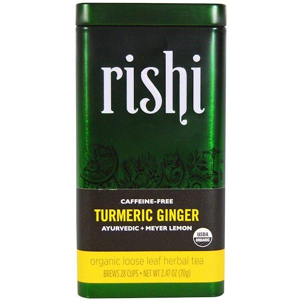 Rishi Tea Turmeric Ginger Organic Loose Leaf Herbal Tea A, 상세설명참조