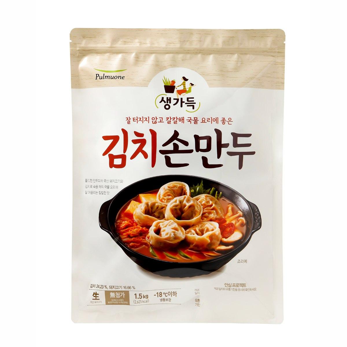 ★아이스박스★풀무원 김치 손만두 1.5kg, 단일상품
