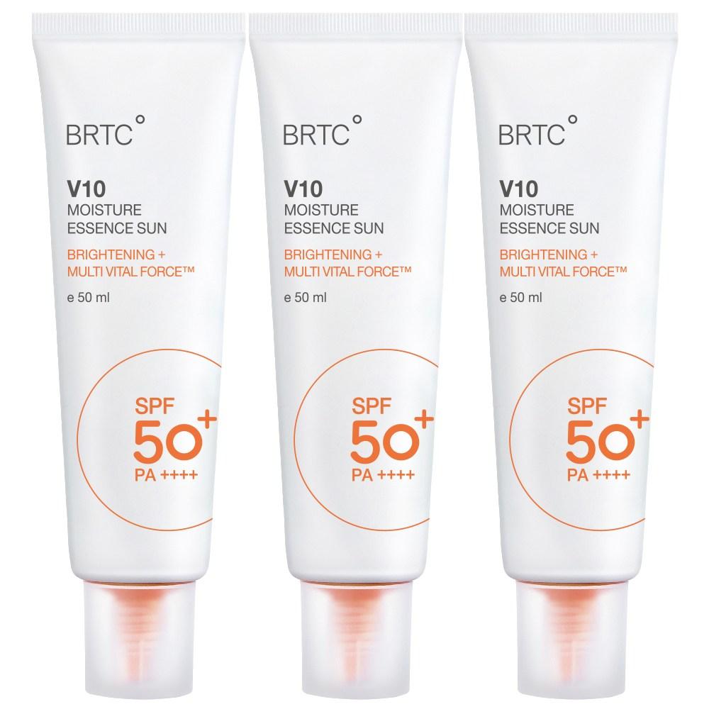 BRTC V10 UV 모이스처 에센스 선크림 50ml SPF50+ PA++++, 3개