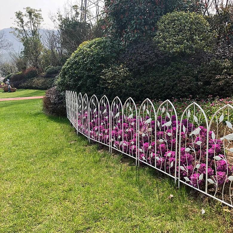 홈가드닝 반려 식물 울타리 빈티지 화단 정원 펜스, 빈티지 화이트