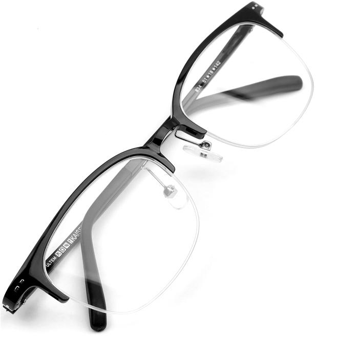 울템 사각 반무테 초경량 초탄성 국산 프리미엄 빈티지 클래식 안경 K834