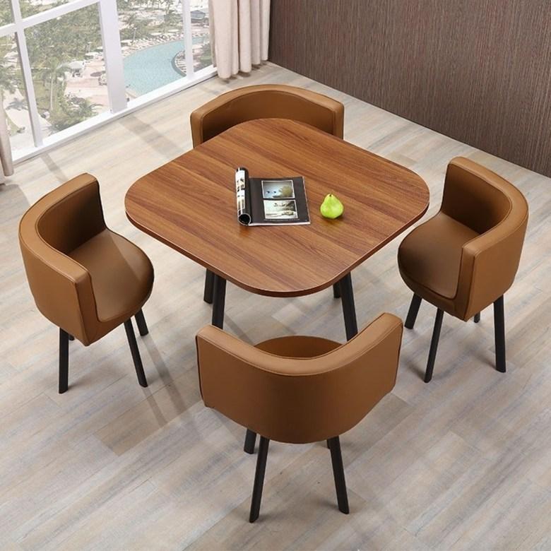 매장 로비 고급 인테리어 테이블 의자 세트 4인 회의테이블, N80