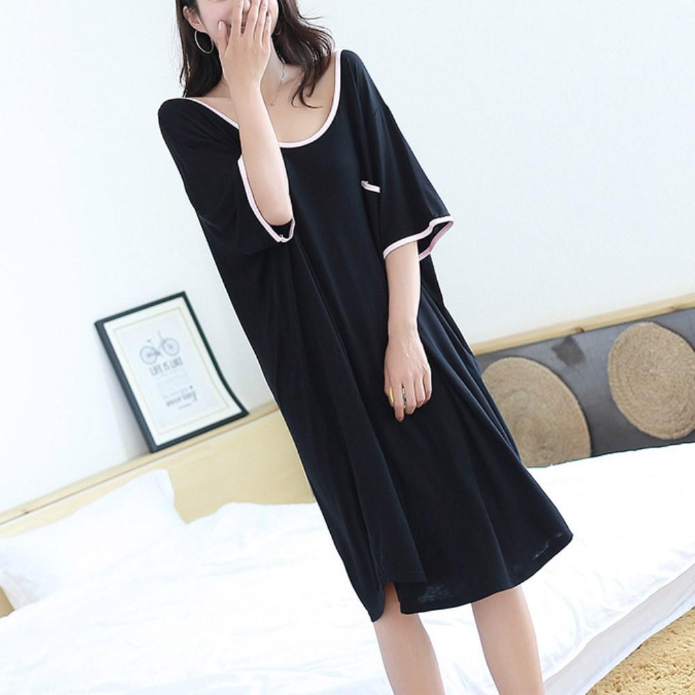 아웃사이즈 OA1663 빅사이즈 모달 홈 수면 드레스