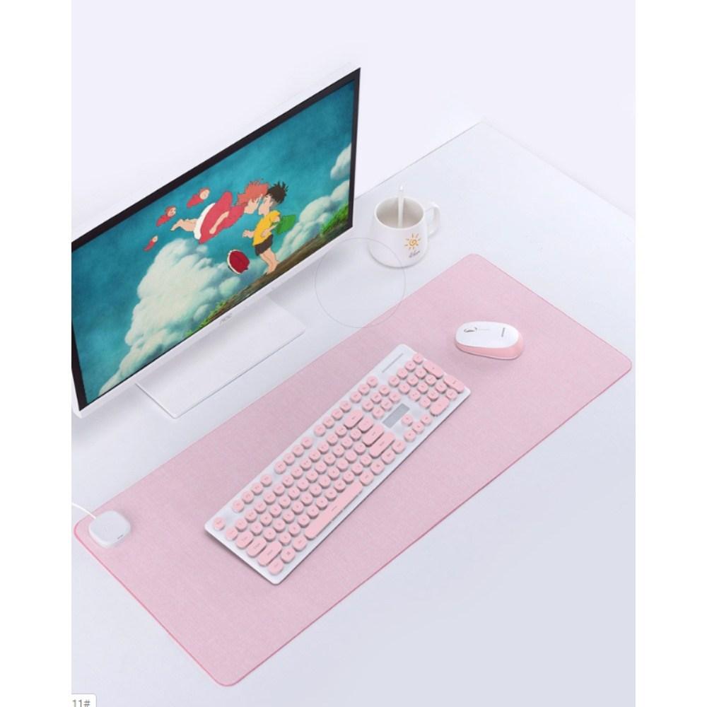 더링크 온열데스크매트 저감도 발열 마우스패드 1개 핑크