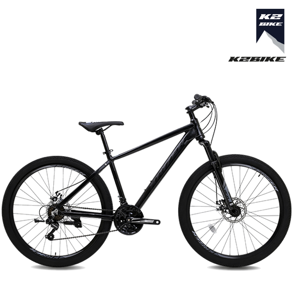 K2BIKE 2021 알루미늄 MTB자전거 로건2.1D 27.5인치 시마노21단 디스크브레이크 MTB 자전거, 로건2.1D 27.5형 매트블랙 미조립