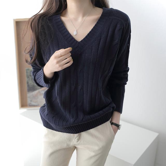[여성 v넥 티셔츠] 제니트 봄 가을 여성 루즈핏 브이넥 니트 여성니트 봄니트티 봄니트 - 랭킹50위 (14900원)