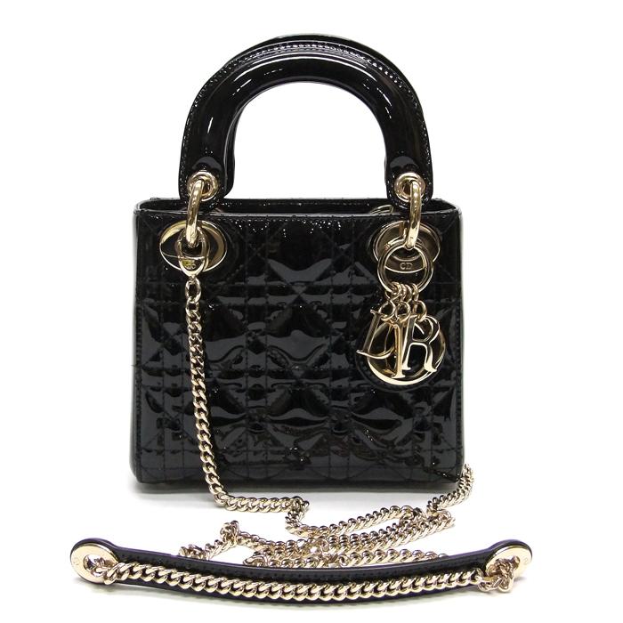 [뉴욕명품] Dior(크리스찬디올) 가방 M0505 블랙 페이던트 까나주 레이디 디올 미니백 2-WAY