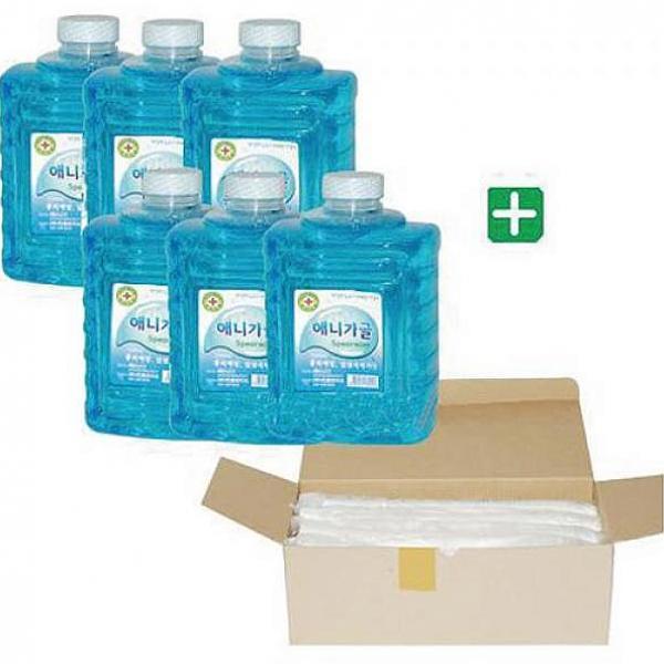 인터마켓 애니가글 가글 컵 세트 가글1.5LX6개 컵720개 양치용품 정리