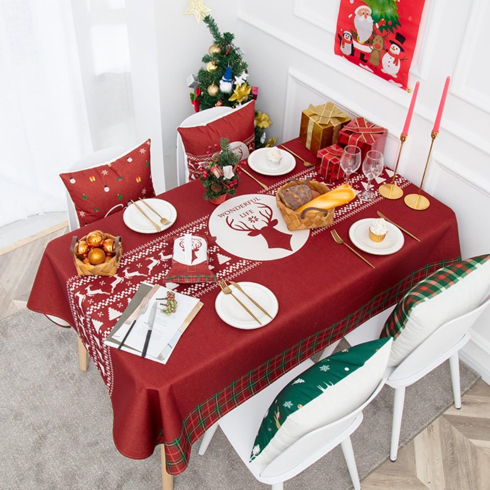 캠핑 방수 테이블보 크리스마스 성탄절 미니 협탁보 식탁보 1인 6인용 크로쉐, 85x85CM, A
