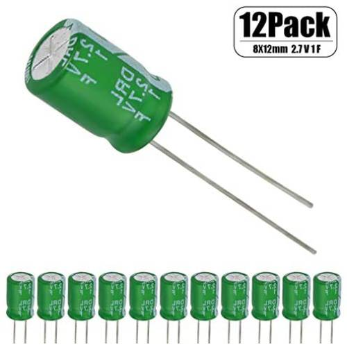 12 Pcs 1 Farad Capacitor 2.7v Super Capacitor Green by HOWRIN