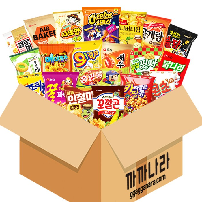 까까나라 과자 간식 랜덤 럭키박스 인기스낵 20p 선물세트, 1box, 인기스낵 럭키박스(20p)
